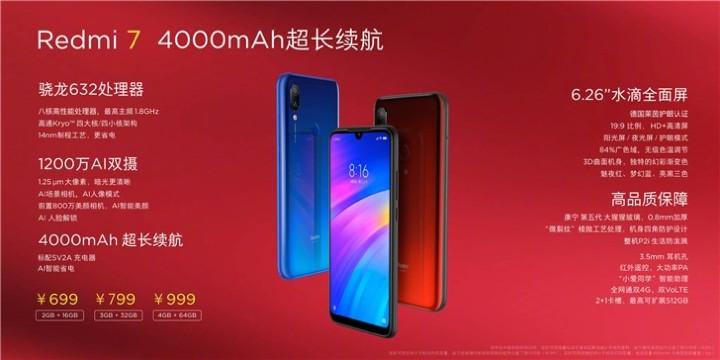 Xiaomi 紅米 7 介紹圖片