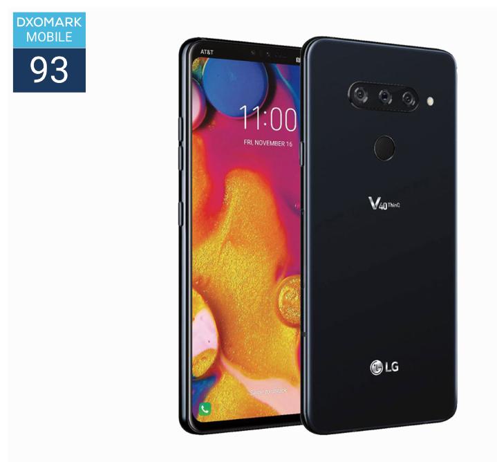 总分93 分,LG V40 ThinQ 的DxOMark 分数揭晓