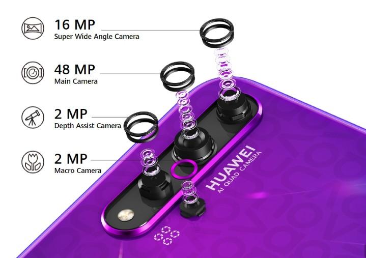 華為 Nova 5T 海外發表,搭麒麟 980 處理器、8GB RAM 還有 AI 四鏡頭