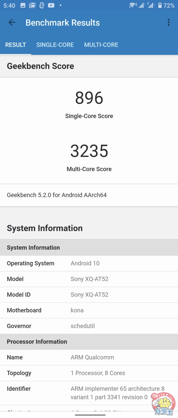 Sony Xperia 1 II 鏡湖綠 升級 RAM 跑分也有提昇