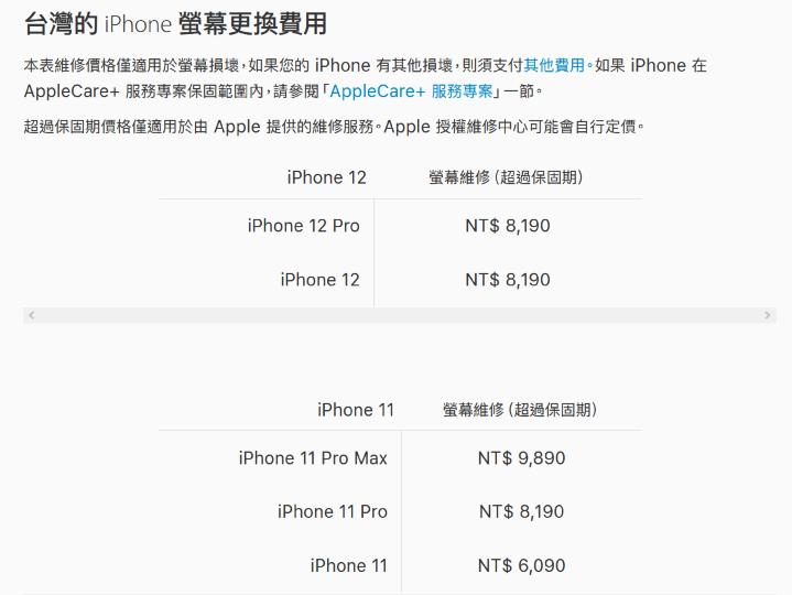 iPhone 12 / 12 Pro 螢幕損壞維修價格 與 iPhone 11 Pro 相同 - 2