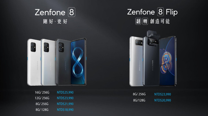 ASUS ZenFone 8 系列即日起台灣上市,買手機送 $3,000 郵政禮券(更新:老客戶才有)