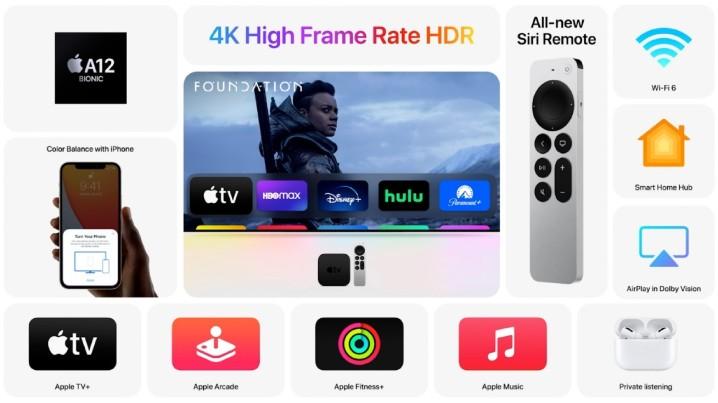 新版 Apple TV 4K,換上 A12 Bionic 處理器、新遙控器與可用 IPhone 校正電視色彩功能 - 6